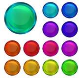 buttons samlingen glansig Royaltyfri Fotografi