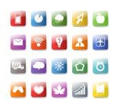 buttons samlingsfärg olik Arkivbild