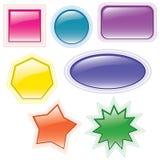 buttons samlingsvektorn Arkivbild