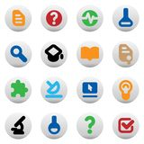Buttons for science Stock Images