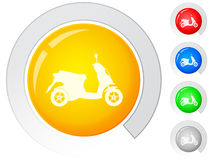 Buttons scooter Stock Photos