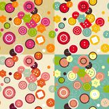 Buttons seamless pattern Royalty Free Stock Images