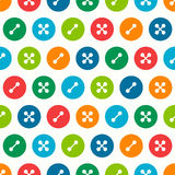 Buttons seamless pattern. Vector seamless pattern with buttons Royalty Free Stock Photography