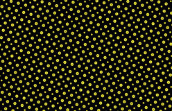 Buttons seamless pattern in Yellow and Black Royalty Free Stock Images