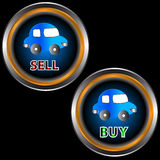 Buttons sell and buy Royalty Free Stock Photography