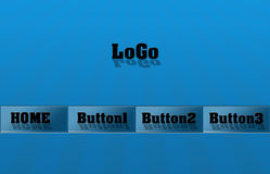 Buttons set. Computer generated web buttons.Illustrations made by photoshop vector illustration
