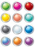 Buttons set Stock Image