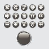 Buttons set. A set of buttons relating to music and sound Royalty Free Stock Image