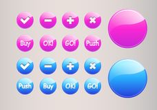 Buttons set Stock Photo