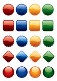 Buttons set Royalty Free Stock Photography
