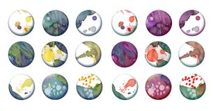 Artistic buttons stock photography