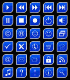 Buttons set blue Stock Photo