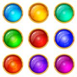 Buttons, Set Royalty Free Stock Images