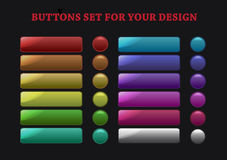 Buttons set Royalty Free Stock Photos