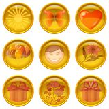 Buttons set, holiday Stock Photography