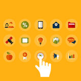 Buttons. Set of icons for web design vector illustration
