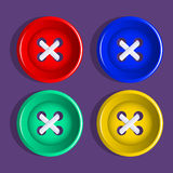 Buttons. Set of multicolored buttons. Vector. Royalty Free Stock Images