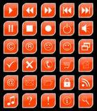 Buttons set orange Stock Images