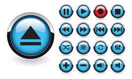 Buttons set for player Royalty Free Stock Photos