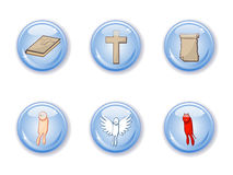Buttons set  religion Stock Photos