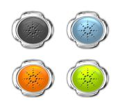 buttons set web site design Royalty Free Stock Photos