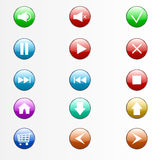 Buttons set Stock Photography