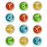 Buttons set. With zodiac signs Royalty Free Stock Photography