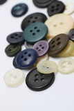 Buttons. Several multi-colored buttons on a white Stock Photos