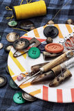 Buttons and sewing accessories Royalty Free Stock Image