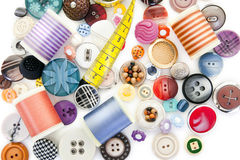 Buttons And Sewing Items Royalty Free Stock Photos