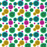 Buttons sewing seamless pattern, button shirt clothing vector il Royalty Free Stock Photos