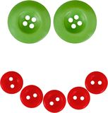 Buttons in the shape of a smiley face. Buttons sewing textile smiling smiley face smiley garment Stock Image