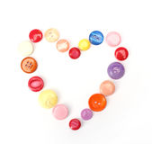Buttons shaped like heart Royalty Free Stock Photography