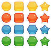 Buttons shapes set Royalty Free Stock Photography