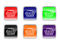 Buttons shopping basket Stock Photography