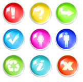 Buttons with signs Stock Photo