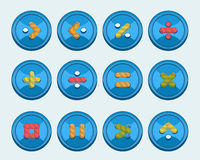 Buttons with signs Royalty Free Stock Images