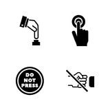 Buttons. Simple Related Vector Icons Royalty Free Stock Image
