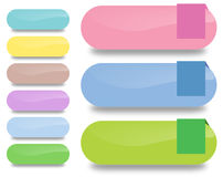 Buttons. Simple vector buttons. Colorful and cute Royalty Free Stock Image