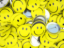 Buttons with smiles Royalty Free Stock Photography