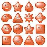 Buttons Smileys, set, eps10 Stock Image