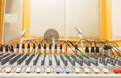 Buttons sound mixer Stock Image