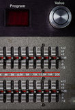 Buttons in sound studio Stock Photos