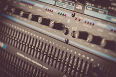 Buttons in sound studio Royalty Free Stock Photography