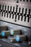 Buttons in sound studio Stock Image