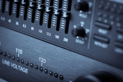 Buttons in sound studio Royalty Free Stock Image