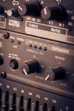 Buttons in sound studio Royalty Free Stock Images