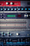 Buttons in sound studio Stock Photo