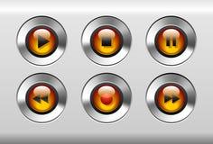 buttons spelare Arkivbilder