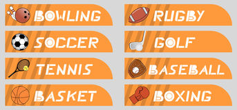 Buttons sport Royalty Free Stock Photos